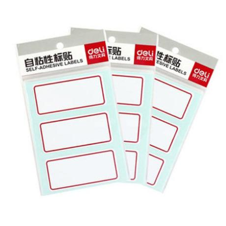得力(deli) 7186 自粘性标贴得力(deli) 不干胶标签纸小标签贴口取纸 标价贴价格签贴纸图书分类 7186 单本